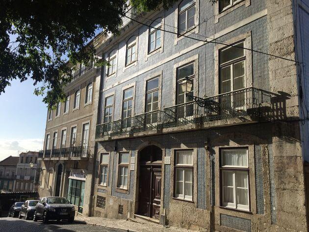 Lissabon huizen tegels