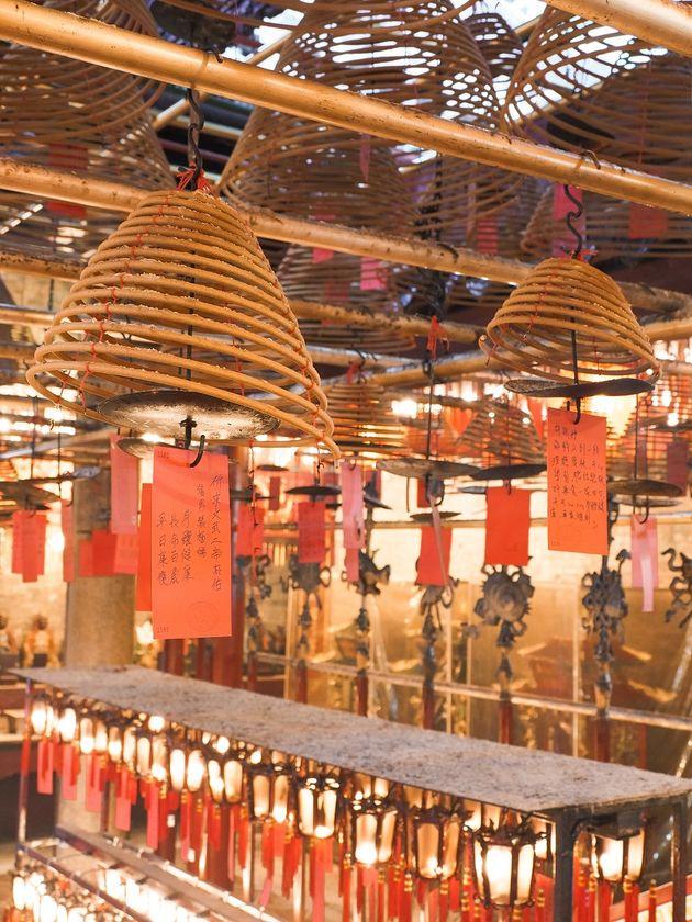 Man Mo Tempel wierook Hongkong