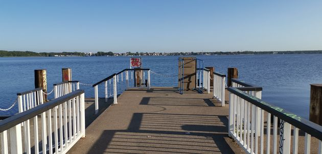 Müggelsee, grootste meer van Berlijn.
