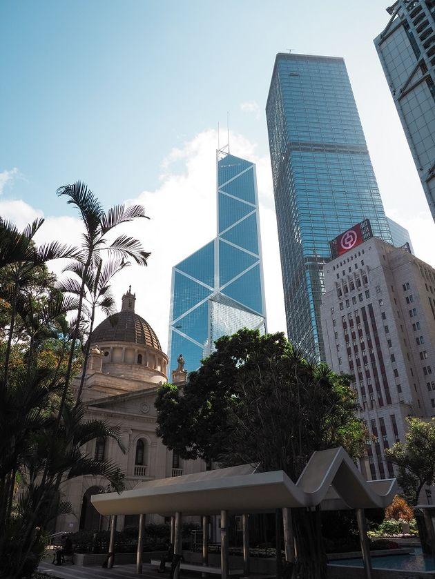 Oud Hooggerechtshof en Bank of China Tower Hongkong