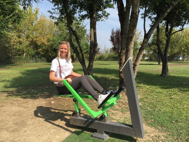 Outdoor fitness Tesla Superchargers Italië