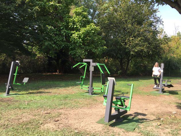 Outdoor Gym Tesla Superchargers Italië