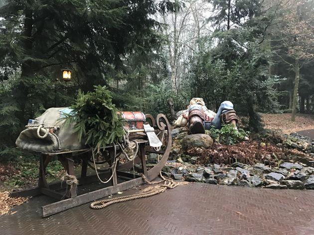 Reus en kleinduimpje met de arrenslee