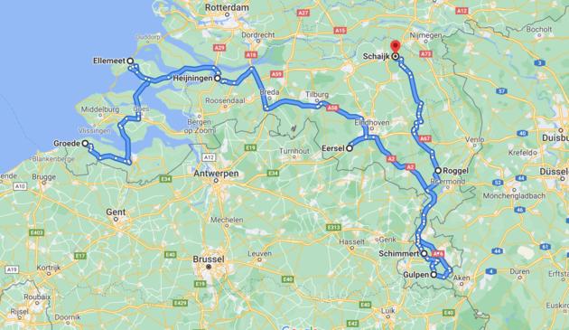 route-camper-roadtrip-zuid-nederland