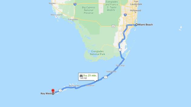 route-miami-beach-key-west