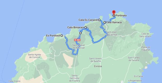 route-roadtrip-noorden-ibiza