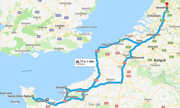 Route-roadtrip-Normandie
