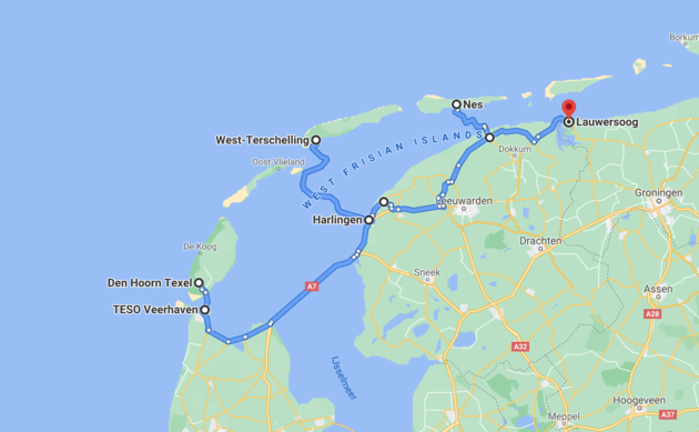 route-roadtrip-waddeneilanden