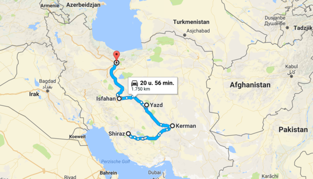 route-rondreis-iran
