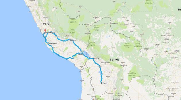 Route-rondreis-Peru-Bolivia