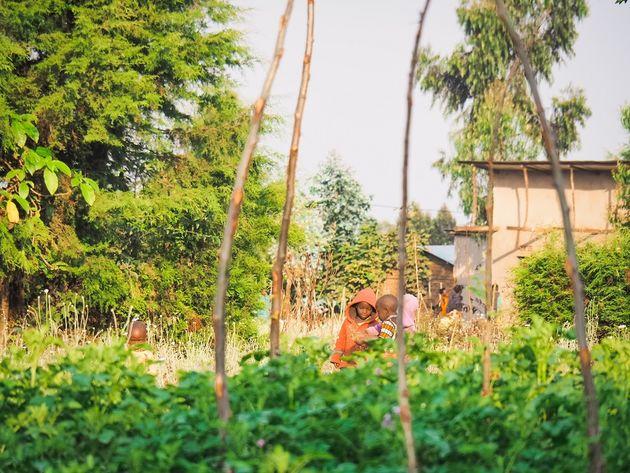 Rwanda straatbeeld kinderen