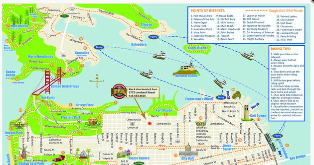 San-Francisco-Fiets-Kaart