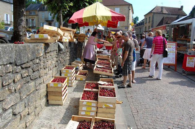 Sarlat_markt