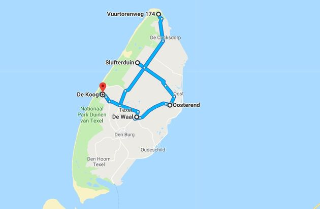 Texel-route-noord