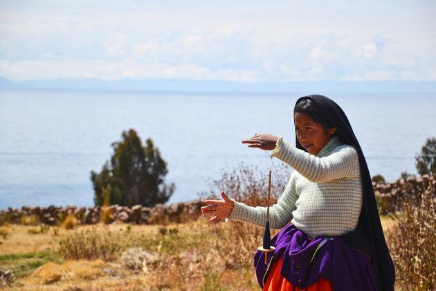 Titicaca-meer-meisje