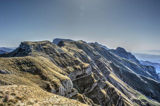 tzoumerka-bergen