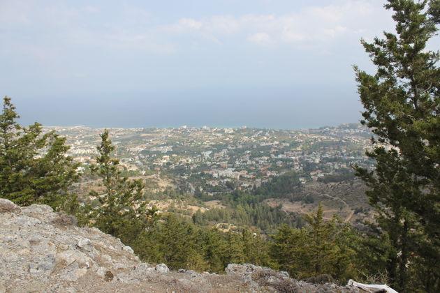 Uitzicht vanuit de bergen