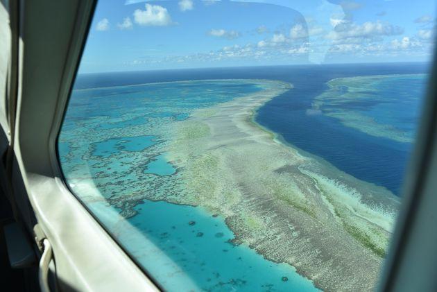 uitzicht-vliegtuig-great-barrier-reef