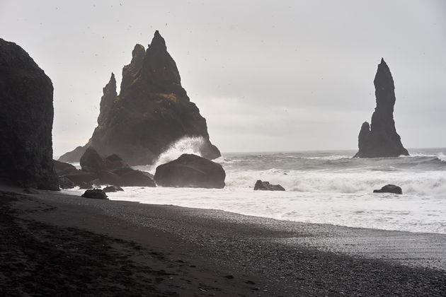 Vik zwart strand ijsland