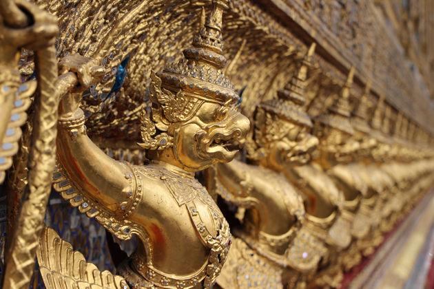 Wachters bij Wat Phra Kaew