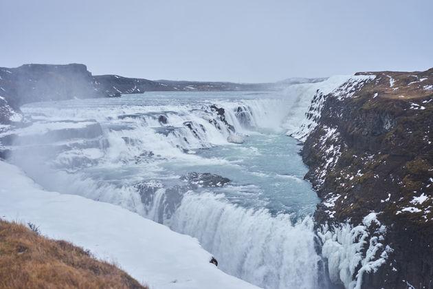 Waterval Gullfoss ijsland