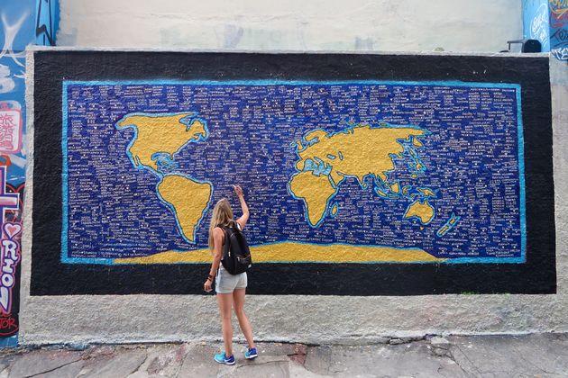 wereldkaart-grafitti