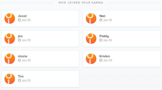 who-joined-your-karma