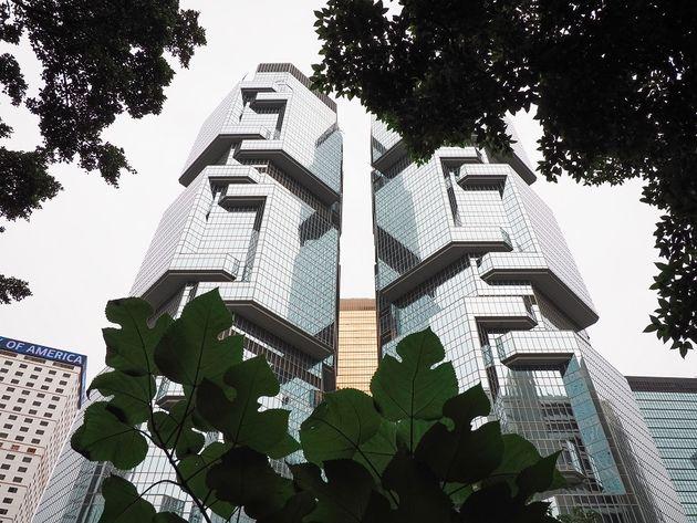 Wolkenkrabbers Hong Kong Park