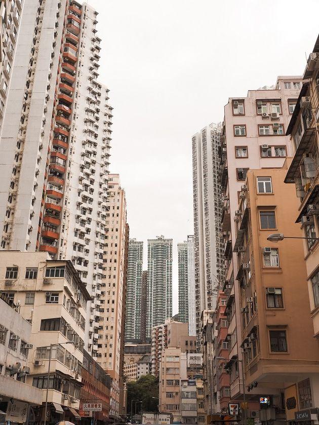 Woongebouwen Hongkong Island