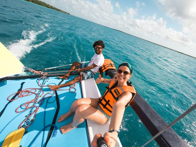 Zeilen Catamaran Bacalar (2)