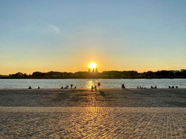 zonsondergang-antwerpen-zuid