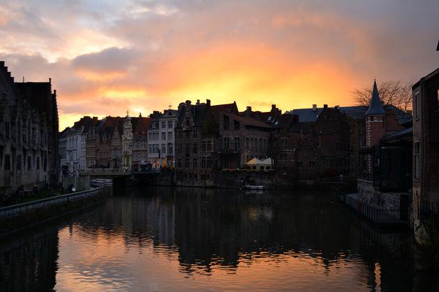 zonsondergang_gent