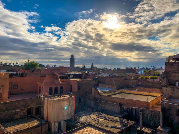 Zonsondergang-marrakech