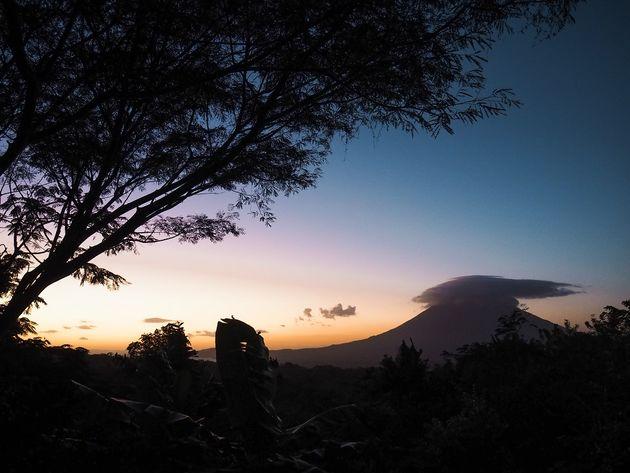 Zonsondergang Ometepe Nicaragua