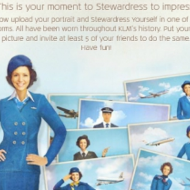 Stewardess yourself op de fanpage van KLM