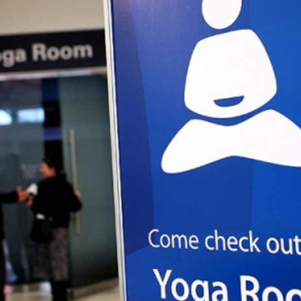 Uitgerust op reis? Airport yoga @ San Francisco Airport!