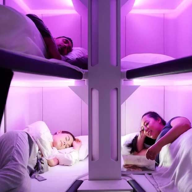 Deze airline komt met volwaardige slaapplekken in economy class