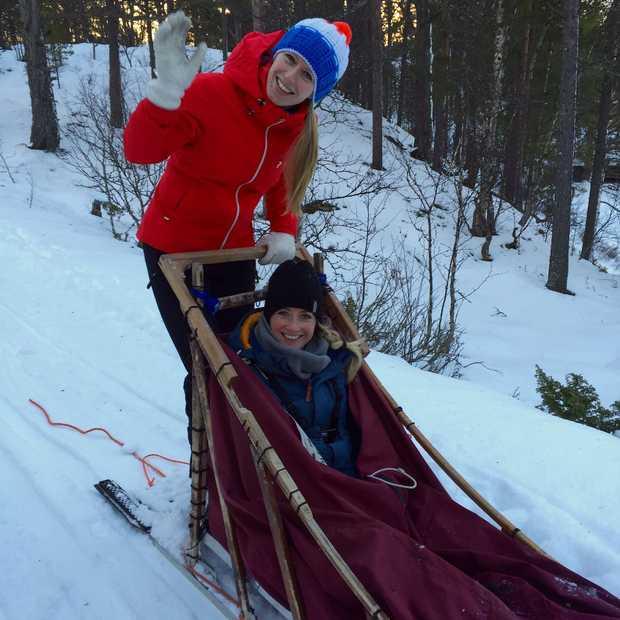 Een husky tour door het Noorse winter wonderland