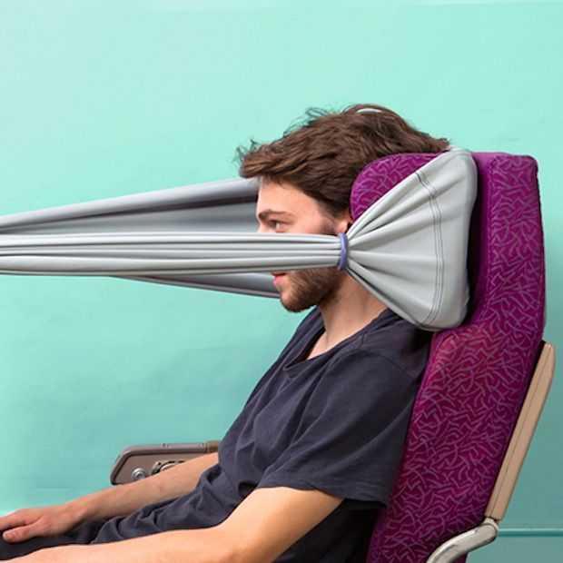 B-tourist band voor meer privacy tijdens een vlucht