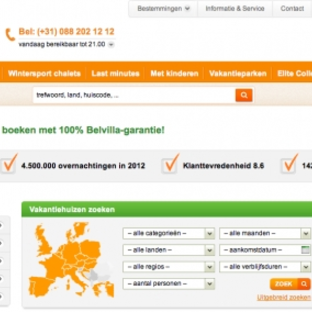 WUA!: Beste website in de travelbranche is Belvilla