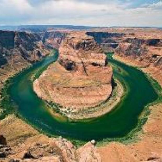Bizar gevormde rivieren en meren