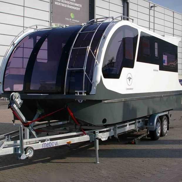 Deze caravanboot kun je echt overal mee naartoe nemen