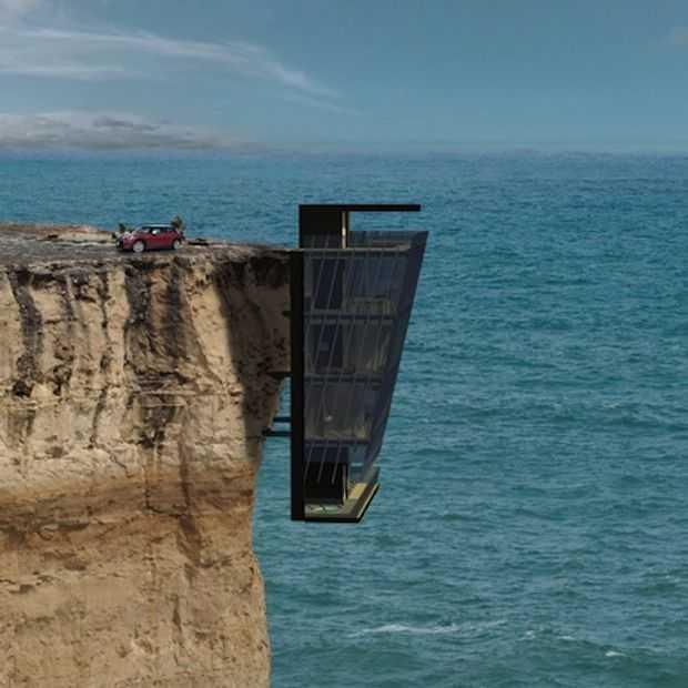 Bizar! Huis gebouwd aan wand van Australische Klif