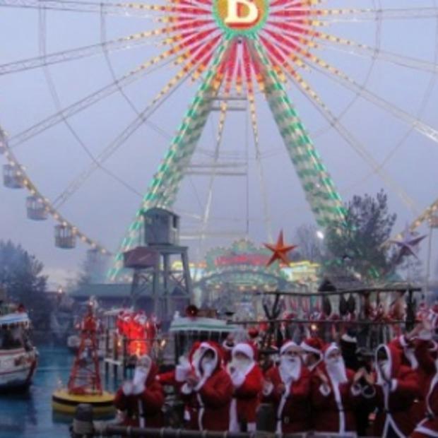 Winterwonderland in attractiepark Europapark (Duitsland)