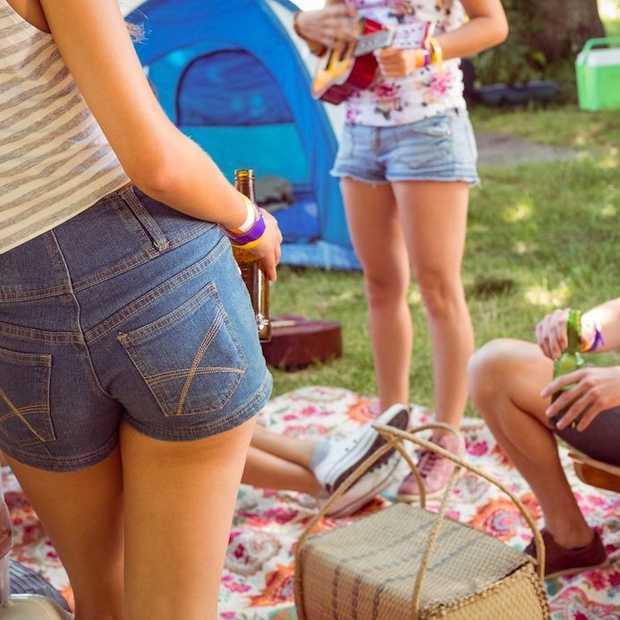 Trend: kamperen in festivalsferen