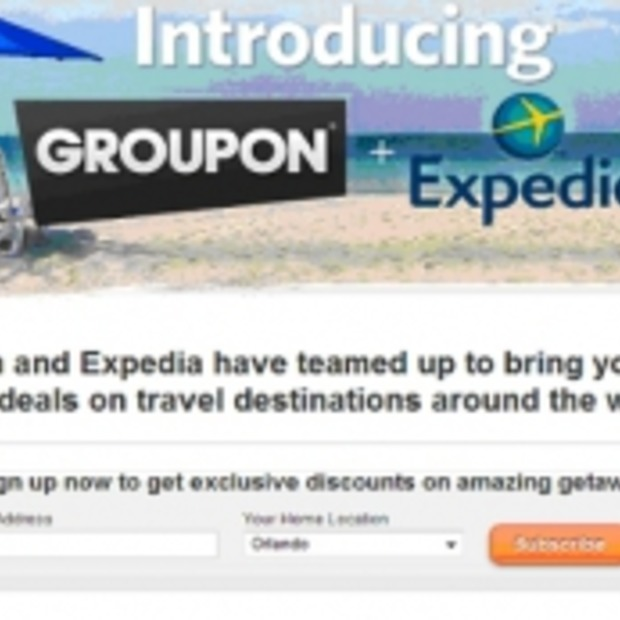 "Samenwerking Groupon & Expedia in ""Groupon Getaways"""