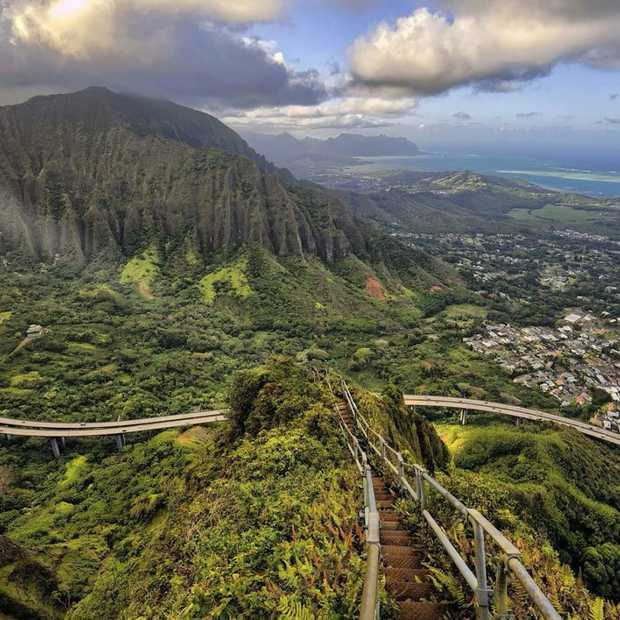 Haiku Stairs op Hawaii: de Stairway to Heaven