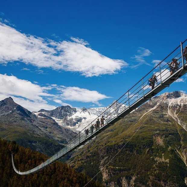 Zwitserland heeft de langste hangbrug ter wereld