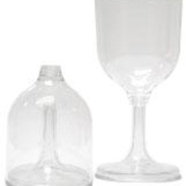 Inklapbaar wijnglas