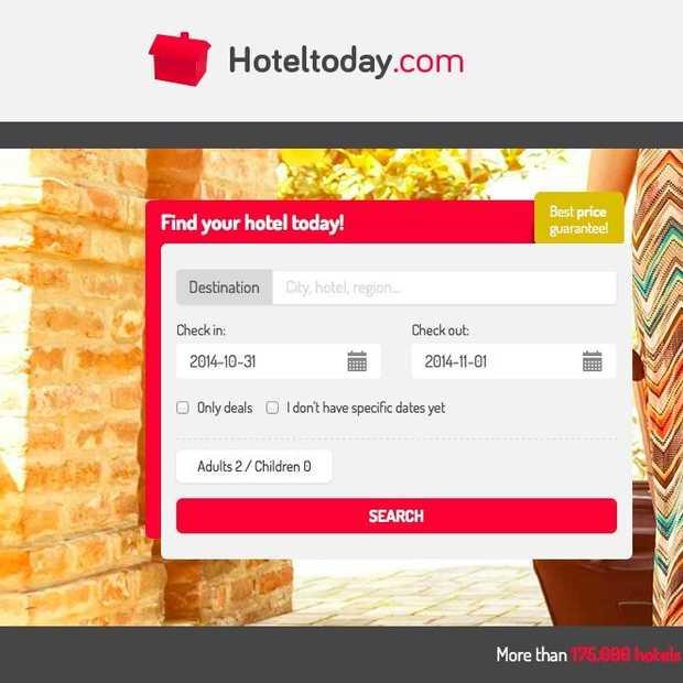 Hoteltoday.com biedt de laagste prijs voor hotelovernachtingen op korte termijn